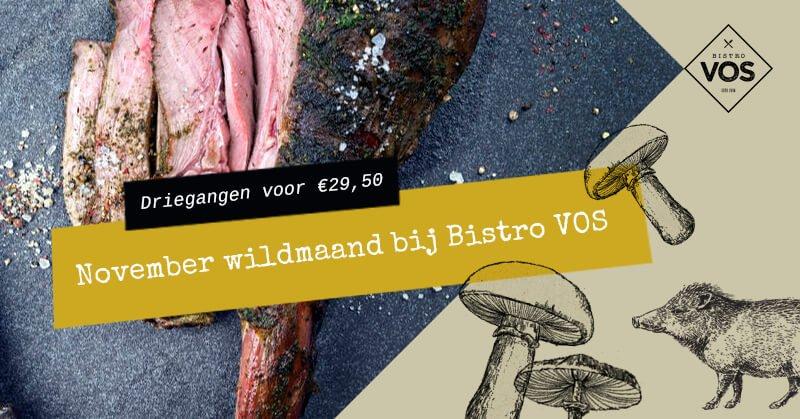 Wildmenu November bij Bistro VOS | Restaurant Hilversum
