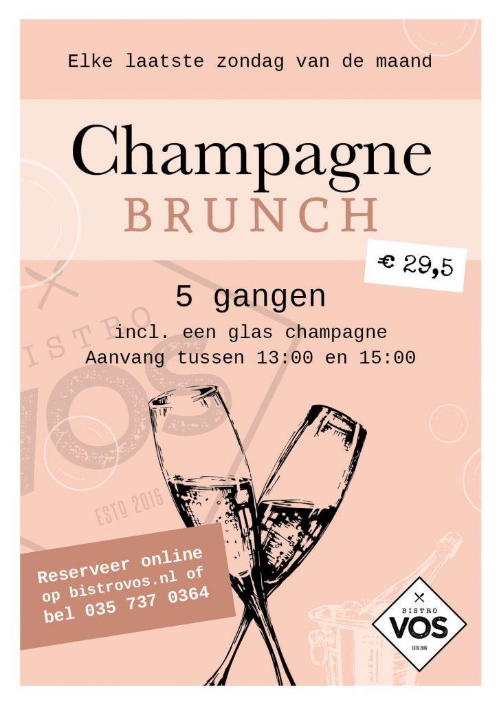 Champagne brunch Hilversum | Bistro VOS